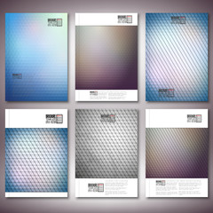 Abstract colored backgrounds, triangle design vector. Brochure,