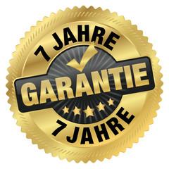 Garantie 7 Jahre