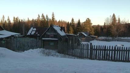 russian winter village