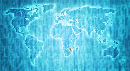zimbabwe territory on world map