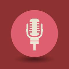 Retro microphone symbol, vector