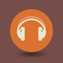 Headphones symbol, vector