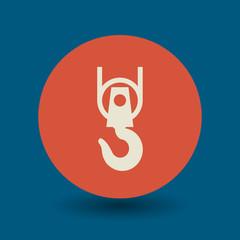 Crane hook symbol, vector