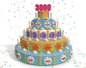 Cake three thousand