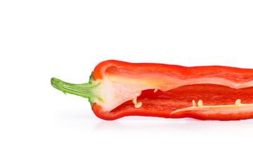 Half of red chili pepper.