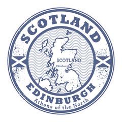Grunge rubber stamp with words Scotland, Edinburgh
