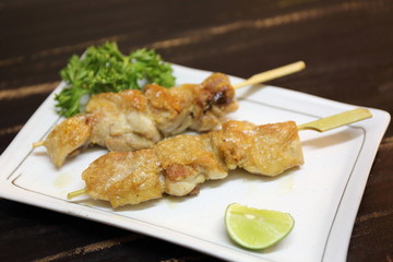 Japanese food chicken Yakitori grilled
