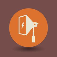 Studio flash icon or sign, vector