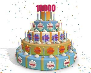 taart met cijfer 10.000