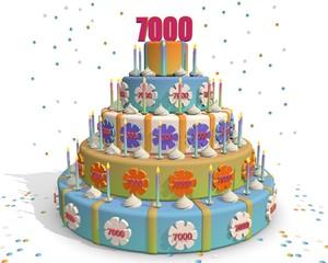 taart met cijfer 7000