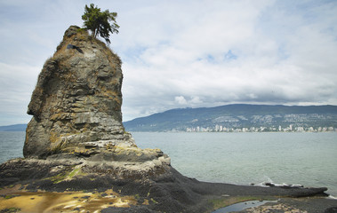 View from Stanley Park in Vancouver. Canada