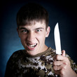 Angry Teenager with a Knife