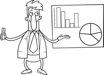 businessman presentation coloring page