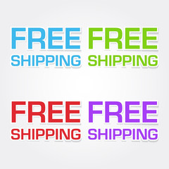 Free Shipping Colorful Vector Icon Design