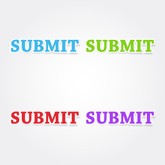 Submit Colorful Vector Icon Design