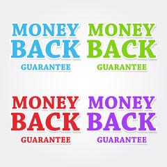 Money Back Guarantee Colorful Vector Icon Design