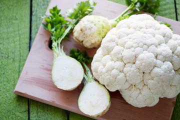celery and cauliflower