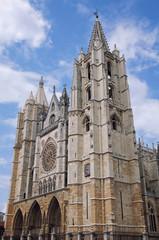 Roman catholic Santa Maria de Leon Cathedral in Spain