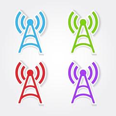 Radio Signal Colorful Vector Icon Design