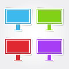 Computer Colorful Vector Icon Design