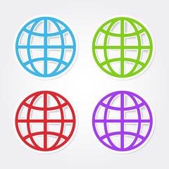 Globe Sign Colorful Vector Icon Design