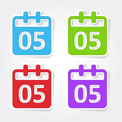 Calender Sign Colorful Vector Icon Design