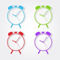 Alarm Clock Colorful Vector Icon Design