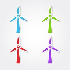 Windmil Colorful Vector Icon Design