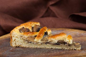 homemade pie with mushrooms