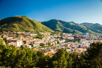 Sunny view of Cefalu residential district