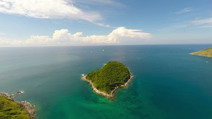 Island. Sea. Aerial.