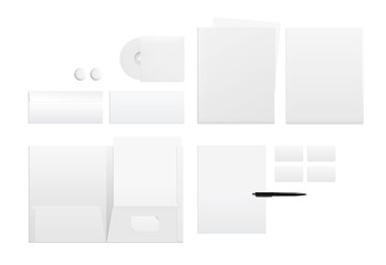 Template for branding identity on white