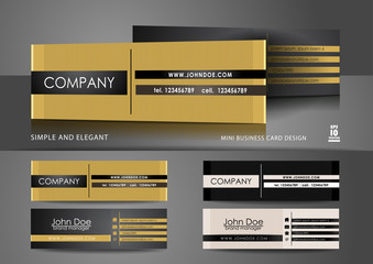 Simple mini business card design