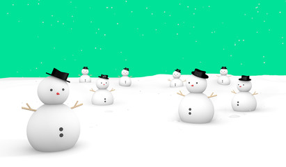 Merry Christmas Snowman ground