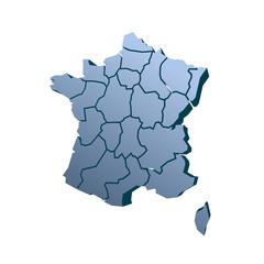 france regions 3D