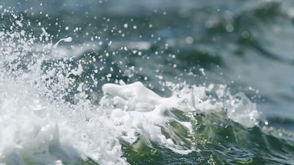 Wave Behind Speed Boat Close up 03