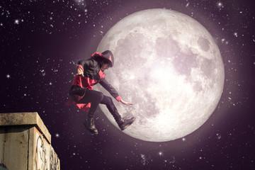 superhero in the night