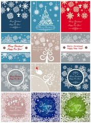 Winter paper greetings