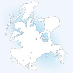 Insel Rügen in weiß