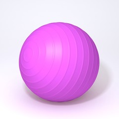 Fitness ball 3d illustration