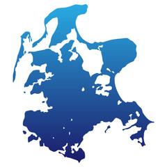 Insel Rügen in blau