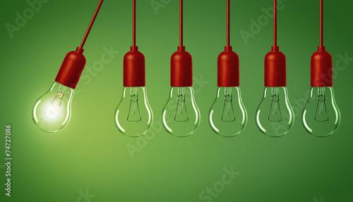 canvas print picture Lampe / Glühbirnen / Konzept