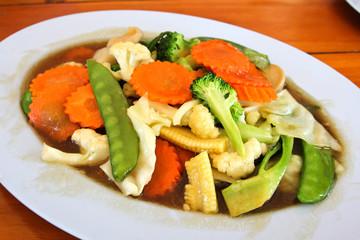 Stir-fried mixed vegetables.