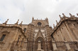 Facade of a cathedral in Seville, Spain