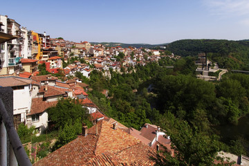 View from town Veliko Tarnovo in Bulgaria