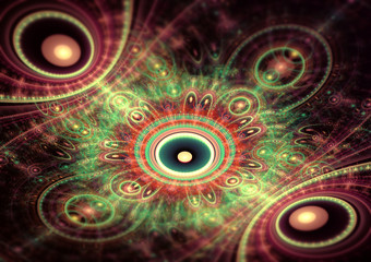 Red and green julian fractal background