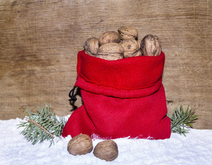 New Year's sack with nutlets