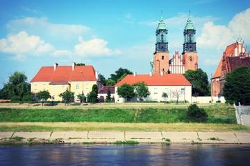 Poznan, Poland. Cross processed color tone.