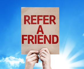 Refer a Friend card with beautiful day