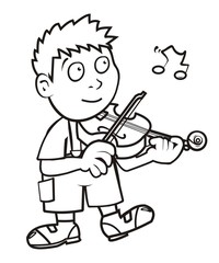 violinist, coloring book